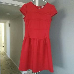 Red Anthropologie girls from savory dress